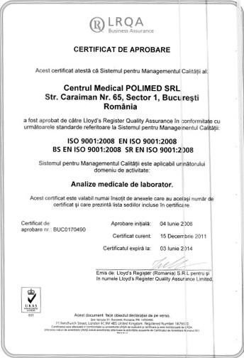 certificat de acreditare